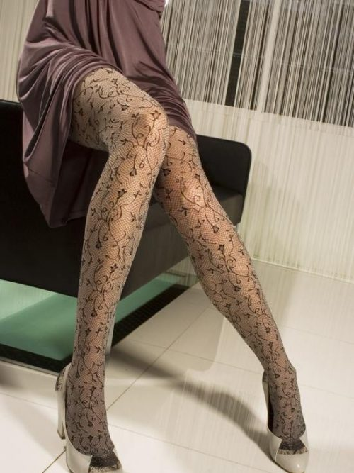 fff839383e Charnos Floral Tights Sheer floral tights