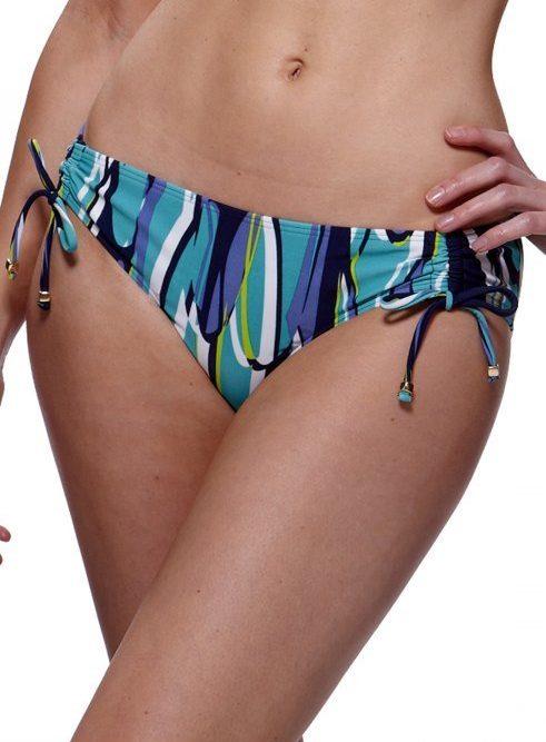 Lepel LE160060 Swimwear Riviera Plunge Bikini Top Blue White