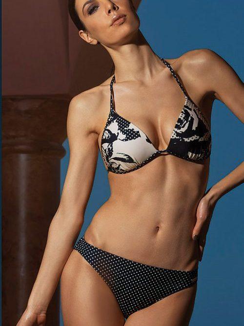 Fashy Polka Contrast Bikini Set
