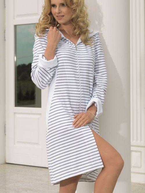 Vanilla Stripe Robe