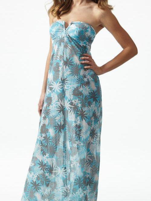 Moontide Pixeleaf Long Dress