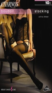Charnos Boudoir 10 Denier Boudoir lace top stocking