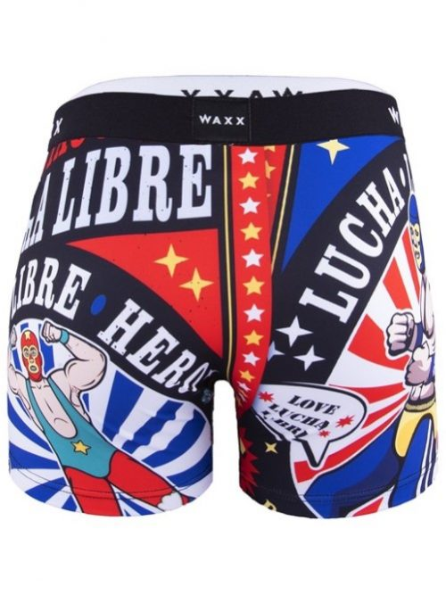 Waxx Lucha Libre Boxers (back) at Under Wraps Lingerie